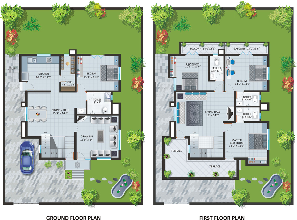INDEPENDENT BUNGALOW : PLAN