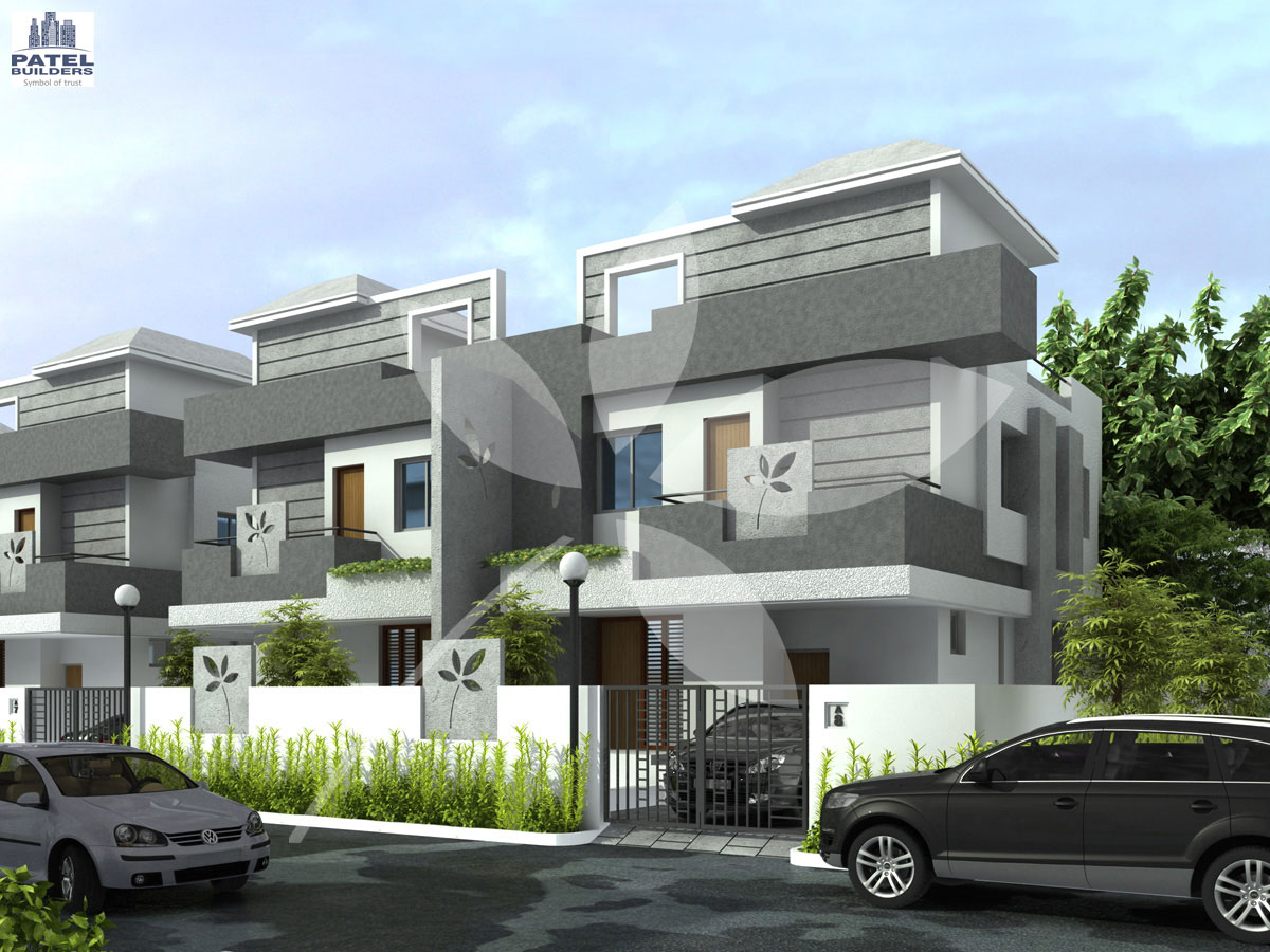 Twin bungalow patel pride aurangabad for Bungalow plans and elevations